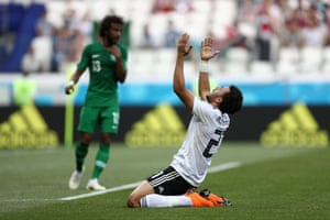 Trezeguet reacts after another missed chance.