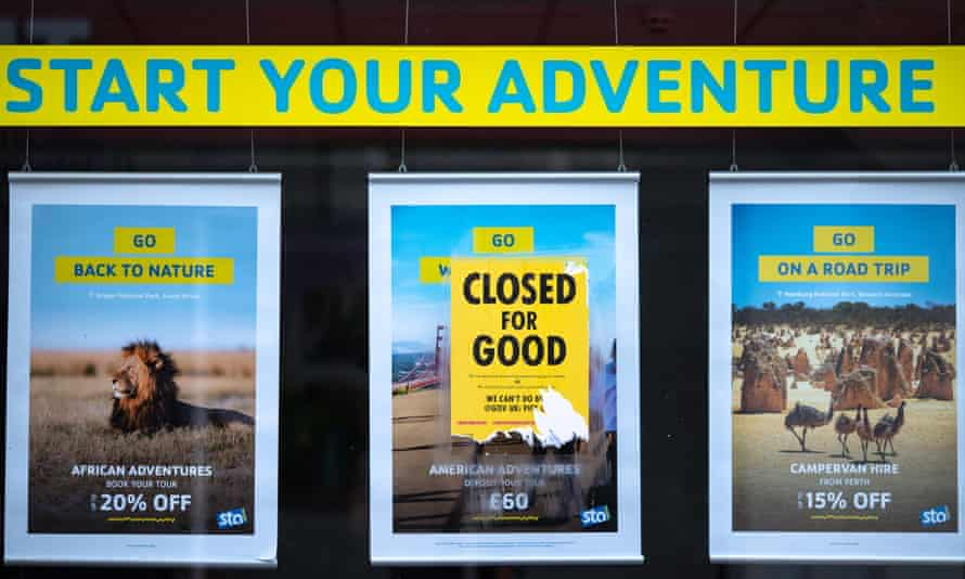 Closed poster on an STA store in Brighton.