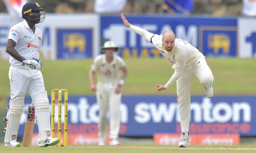 Jack Leach (right) was on fine form for England in the first Test against Sri Lanka.