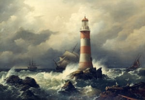 The third Eddystone lighthouse of 1759, designed by pioneering civil engineer John Smeaton. With its dovetailed masonry construction and tapering profile, this tower became the blueprint for all that followed.