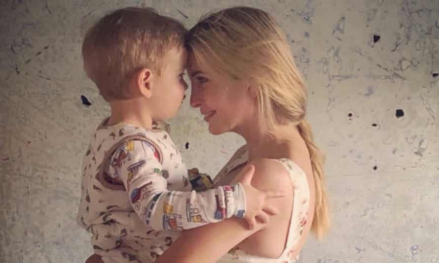 Ivanka Trump's tweeted image with her son.