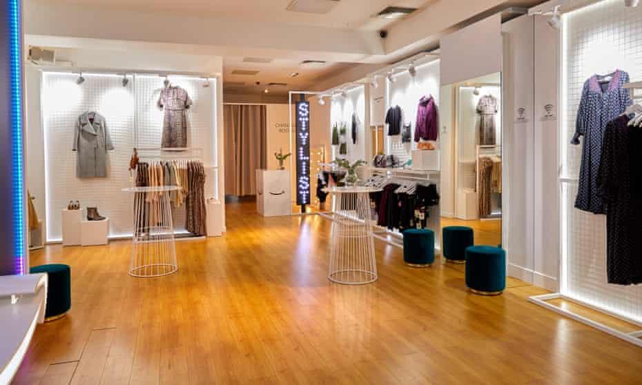 Amazon's pop-up fashion store in London's Baker Street.
