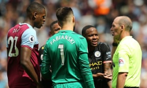 Raheem Sterling's offside meant a 'goal' from Gabriel Jesus was disallowed against West Ham.