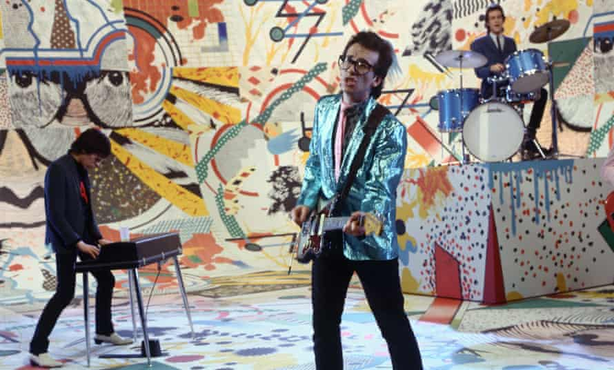 Colourful past … Elvis Costello on The Kenny Everett Video Show in the 1979 . Photograph: Thames TV Archive