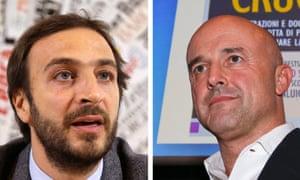 Emanuele Fittipaldi, left, and Gianluigi Nuzzi published books based on leaked documents.