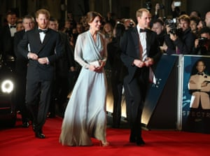 Prince Harry and the Duchess and the Duke of Cambridge