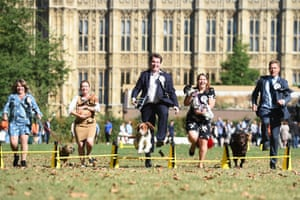 MPs take part in the Westminster Dog of the Year competition, organised jointly by the Kennel Club and the Dogs Trust at Victoria Tower Gardens in Westminster.