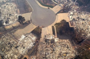 Trotter: 'We have been experimenting with using drones to document the full extent of the damage that natural disasters create. This aerial image was shot using a drone about a week after a camp fire ripped through Paradise, California. Drones aren't usually in active fire zones, but California's fire department lifted flight restrictions for two hours to let journalists capture the widespread destruction'