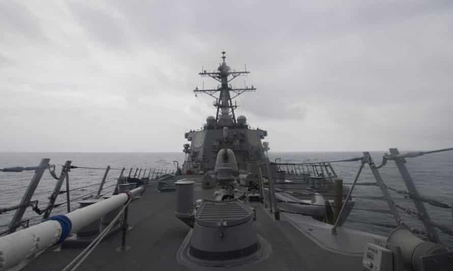 The Arleigh Burke-class guided-missile destroyer USS John S McCain.