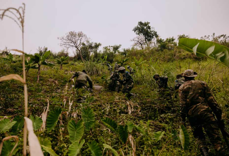 An early morning FARDC reconnaissance patrol in the Rwenzori sector