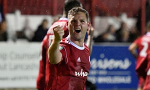 Billy Kee celebrates one of the 22 goals he has scored for Accrington this season.