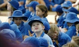 Children from the Holy Spirit Catholic school in Brisbane.