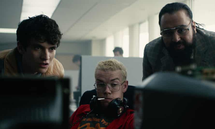 Video games killed the TV star: Fionn Whitehead, Will Poulter and Asim Chaudhry in Bandersnatch.