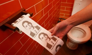Toilet paper at the President Cafe