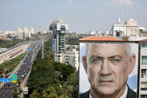 Tel Aviv, Israel An election campaign billboard for Benny Gantz, former army chief of staff and candidate for the Blue and White party