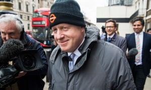 Boris Johnson in Westminster, London.