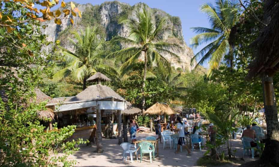 Beach bars at Ao Nang.