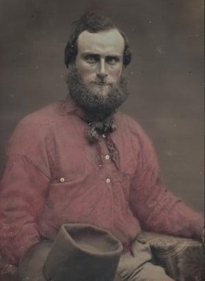 Unknown photographer. Portrait of an unidentified man c.1850. Daguerreotype with applied colour