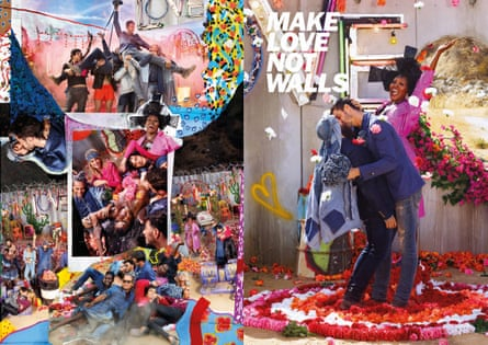 Diesel's Make Love Not Walls campaign.