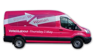 Labour's pink women's bus