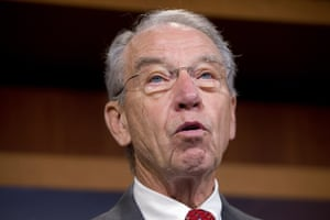 Chuck Grassley speaks on Capitol Hill in Washington.