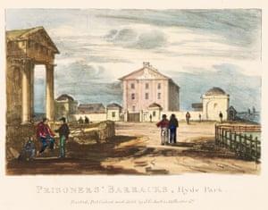 Prisoners' Barracks, Hyde Park Robert Russell, 1836