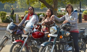 All-women bike rally, organised by NGO Breakthrough India and led by The Bikerni, India's first all-women motorcycle association in Delhi