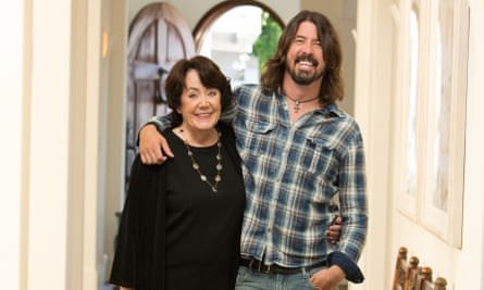 Dave Grohl and his mother Virginia.