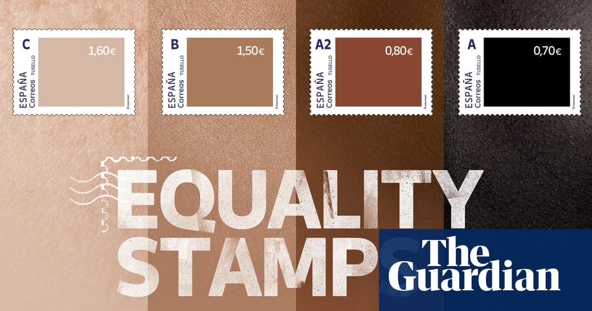 Spain's postal service accused of racism over flesh-toned stamps