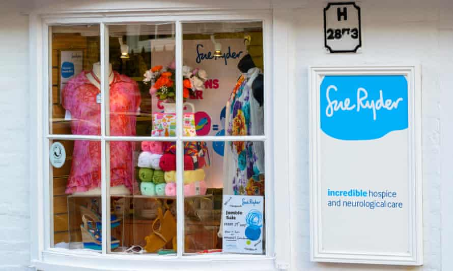 A Sue Ryder charity shop in Dorset.