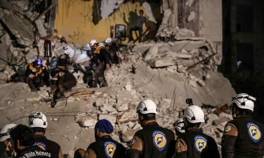 White Helmet volunteers