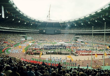 The opening ceremony of the Montreal Games in 1976