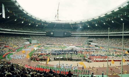 The Opening Ceremony of the 1976 Montreal Games.