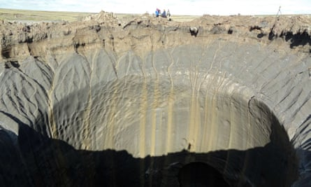 One of the giant craters discovered on the Yamal Peninsula.