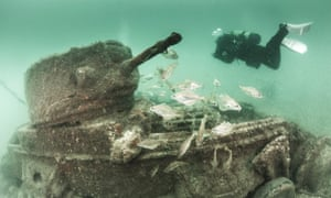 A Valentine tank in Poole Harbour.