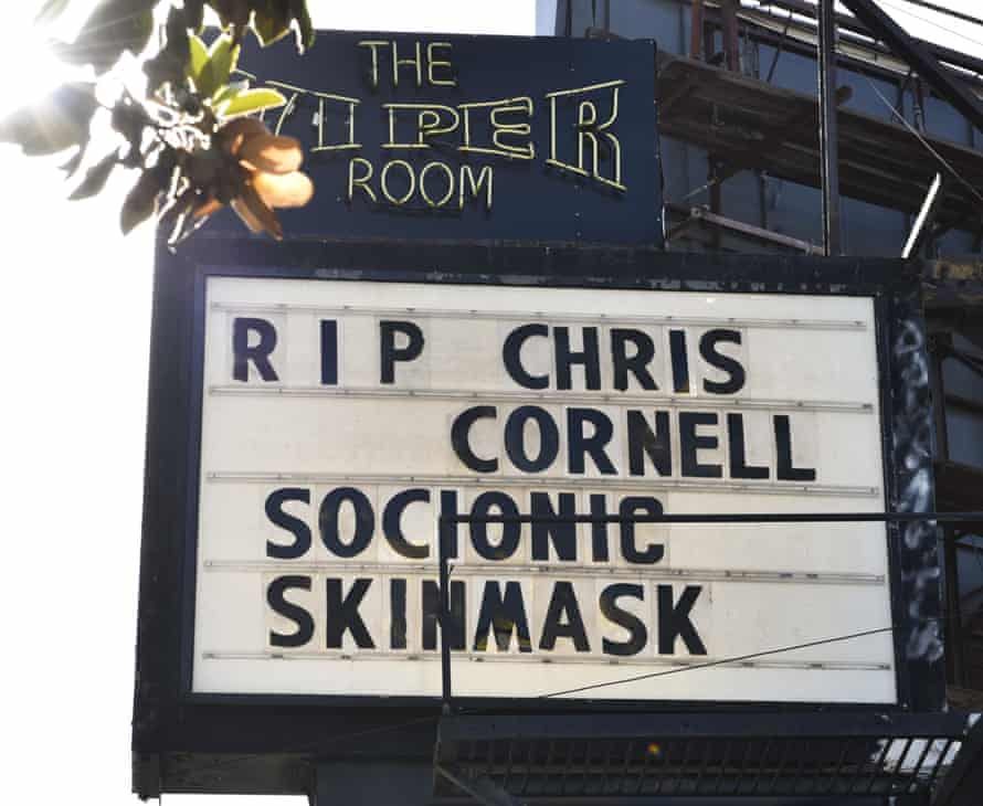 A tribute to Chris Cornell at the Viper Room in LA.