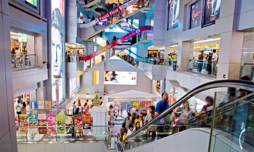 A typical Bangkok 'mega mall'