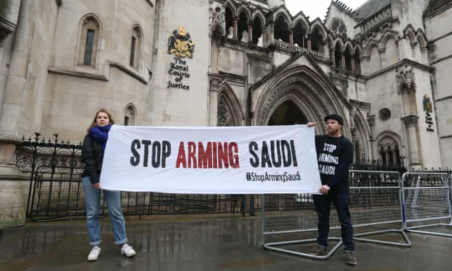 Campaigners outside the Royal Courts of Justice.