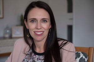 Jacinda Ardern at her home in Auckland.