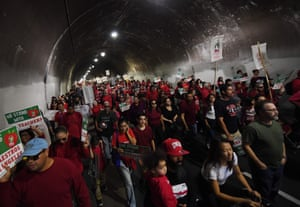 Los Angeles, California: Teachers and students march in protest against cuts to education funding