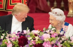 President Trump shares a joke with the Queen