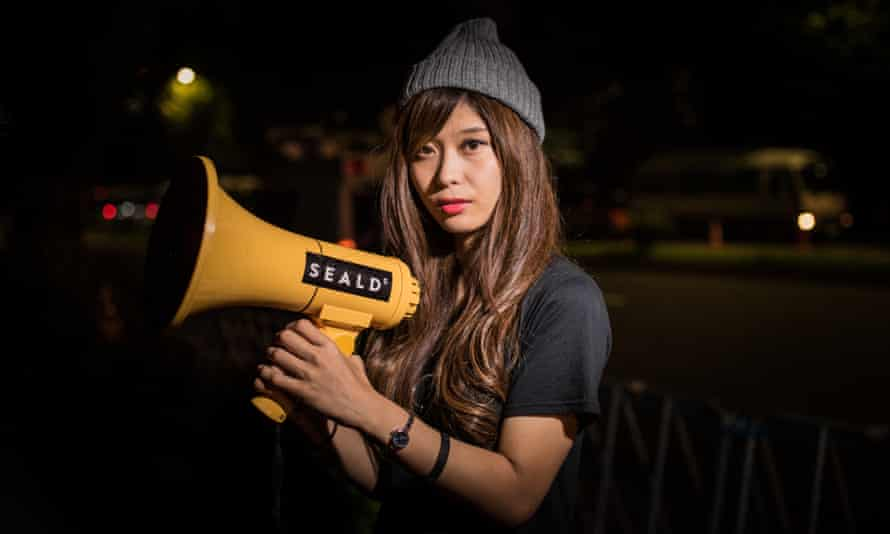 Beniko Hashimoto, a Sealds protester against Japanese troops deploying overseas