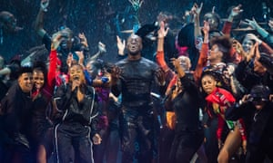 Redefining rock-star rebellion … Stormzy at the 2020 Brit awards.