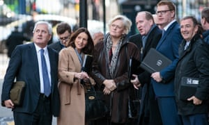 'We're angry …' CBI president Paul Drechsler (left) and other business leaders in Downing St last November.