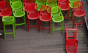 Red and green chairs