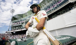 Australia's Marnus Labuschagne walks out to bat on day three of the third Ashes Test