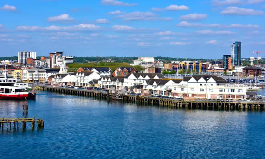 Shaped by its maritime history … Southampton's piers.