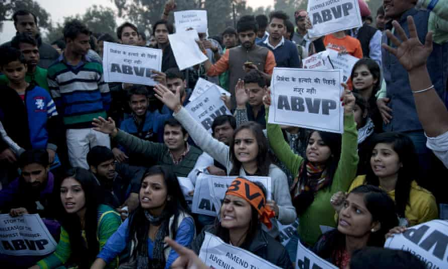 Students protest against the man's release