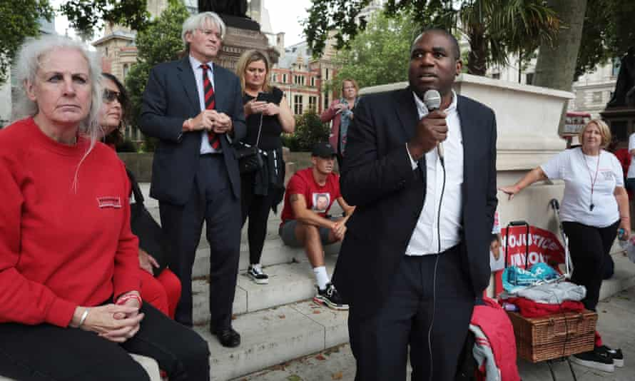David Lammy and Andrew Mitchell at the rally