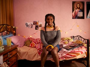 Losing her religion … Michaela Coel as Tracey in Chewing Gum.